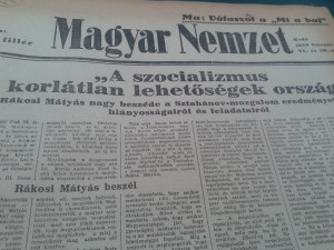 Magyar Nemzet, 1950. március - nem épp elfogulatlan áradozás a szocializmusról