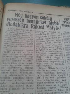 Magyar Nemzet, 1950. március 9. - Rákosi köszöntése